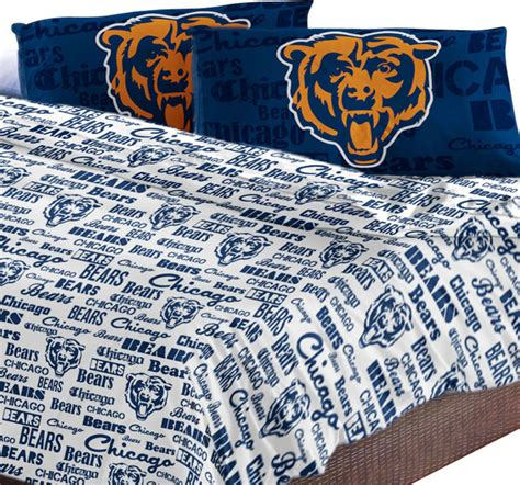 Chicago Bears Crib Bedding Chicago Bears Sheet Set Anthem Bed Sheets Contemporary Bedding By Obedding