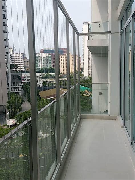 open balcony design irregular shape balcony invisigrills
