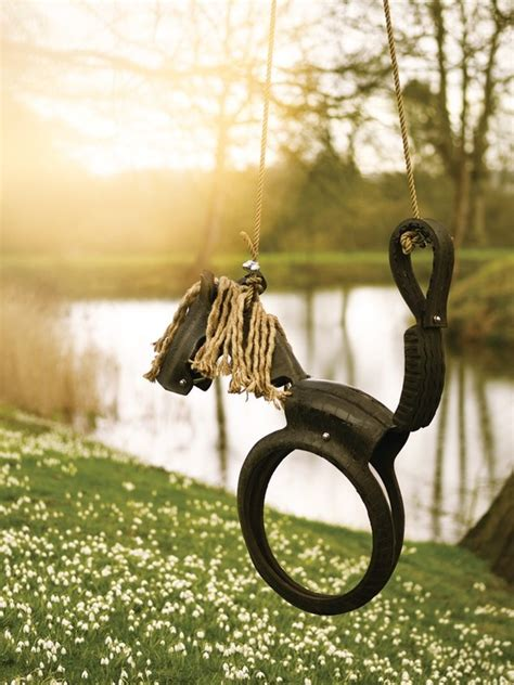 recycled tire swing horse build horse tire swing woodworking projects plans
