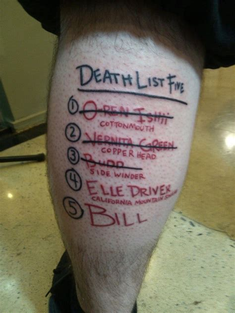 kill bill tattoo badass tarantino inspired ink tattoodo