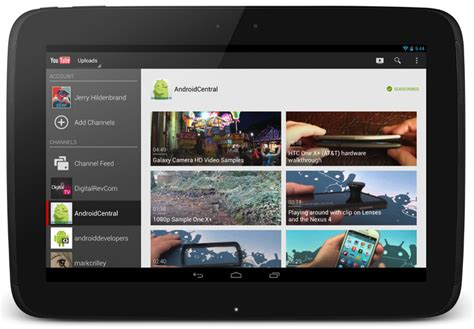 layout app android youtube app updated with new 10 inch tablet layout