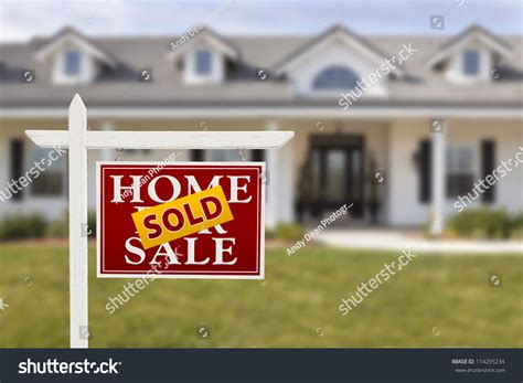 where to buy house for sale signs sold home sale sign front beautiful stock photo 114295234