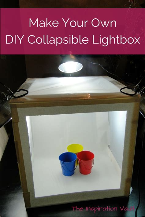 diy collapsible lightbox the inspiration vault