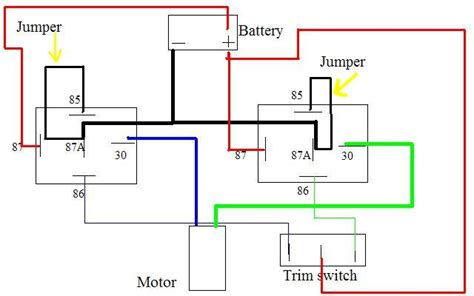 viewing a thread 2 wire motor trim wiring diagram