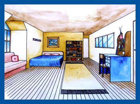 one point perspective bedroom one point perspective drawing the ultimate guide دانلود