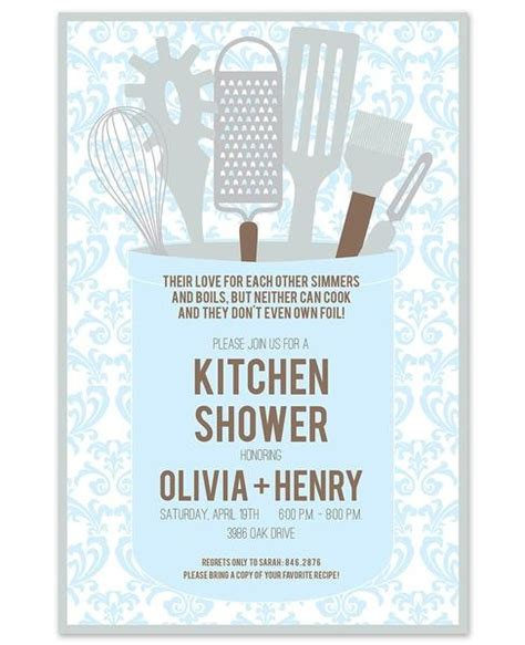 kitchen themed bridal shower quotes 2 kitchen themed bridal shower invitations and printables