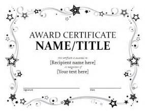 award certificate template format amp template