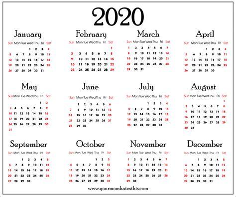 calendars  holidays