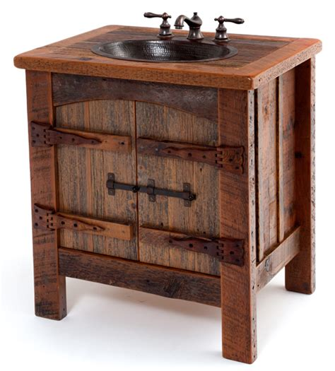 Rustic Bathroom Furniture Rustic Bathroom Sinks On Western Decor