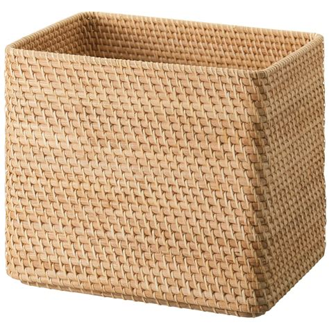 muji baskets stackable rattan basket rectangular xl w36 d26 h31cm