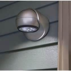 Motion sensor led light silver finish adjustable light head weather