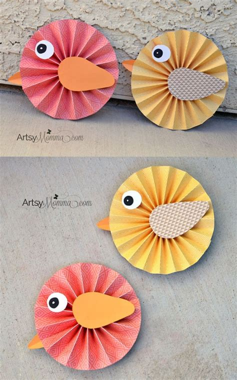 Make Bird With Paper - how to make paper rosette birds artsy momma