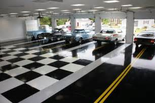Car Garage Design by Classic Car Collector Garage Floor Luxury Homes House