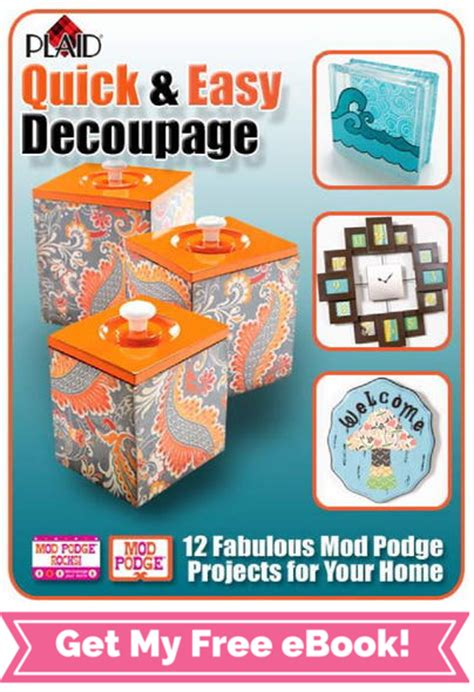Easy Decoupage - quot and easy decoupage quot ebook from plaid favecrafts