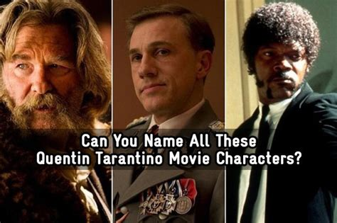 quentin tarantino film scores can you name all these quentin tarantino movie characters