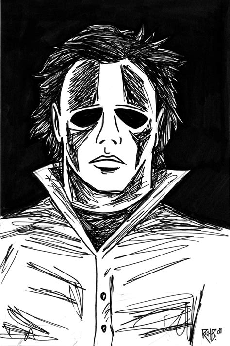 Michael Myers By Richbernatovech On Deviantart Michael Myers Coloring Pages
