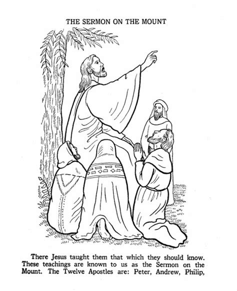 coloring pages of jesus sermon on the mount the sermon on the mount coloring page bible story