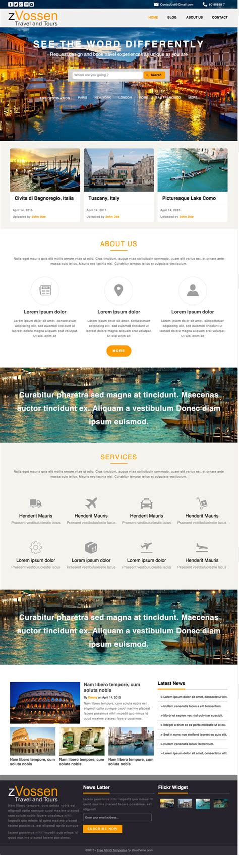html5 travel templates 10 best free travel hotel html5 templates designmaz