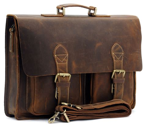Handmade Briefcase - top grade handmade mens real leather briefcase