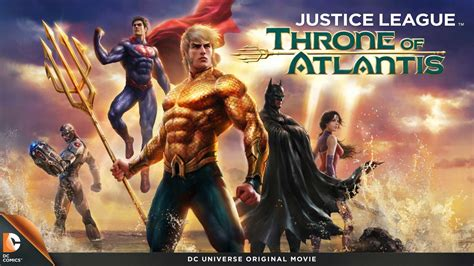 full movie justice league war justice league throne of atlantis mister movie dvd
