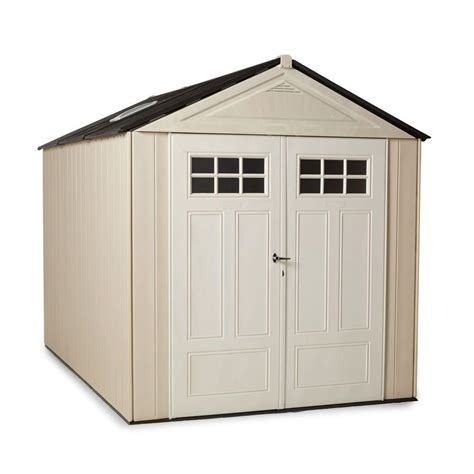 Home Depot Rubbermaid Storage Sheds rubbermaid big max 11 ft x 7 ft ultra storage shed 1862548 the home depot