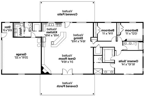 open ranch floor plans ranch house plans ottawa 30 601 associated designs
