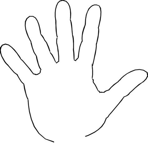 handprint template pin print template on clipart best