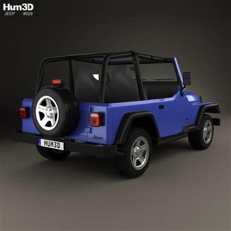 1997 Jeep Wrangler Models Jeep Wrangler Tj 1997 3d Model Hum3d