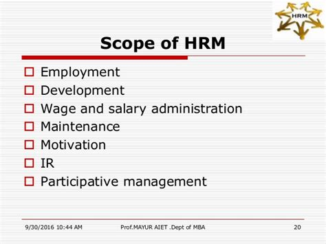 Scope Of Mba In Safety Management by Module1