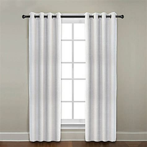bed bath and beyond linen curtains citylinen linen grommet window curtain panels and valances