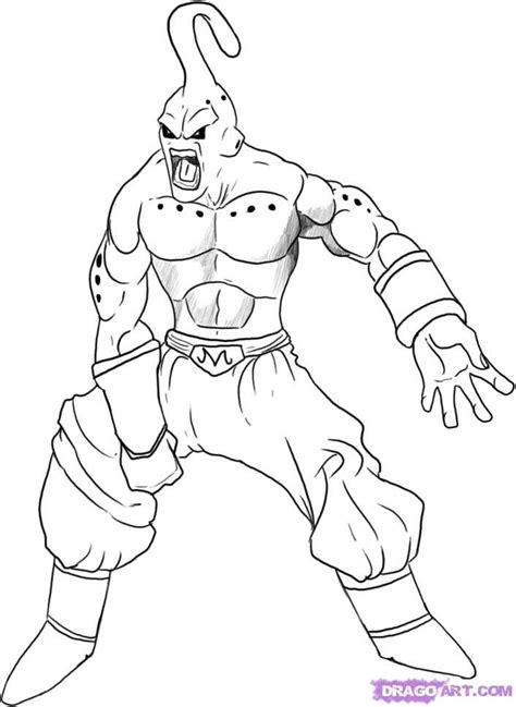 supercar drawing how to draw super buu step by step dragon ball z