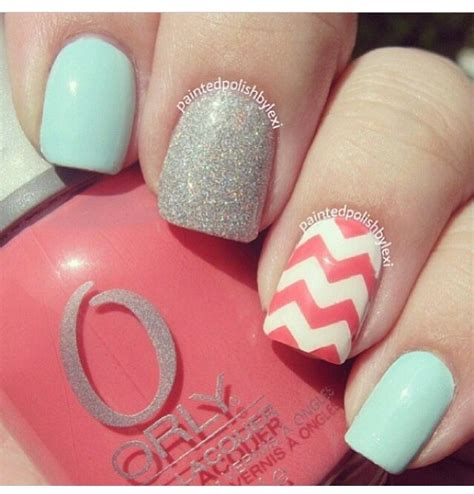 Chevron Pattern For Nails | nice chevron pattern nails nails pinterest