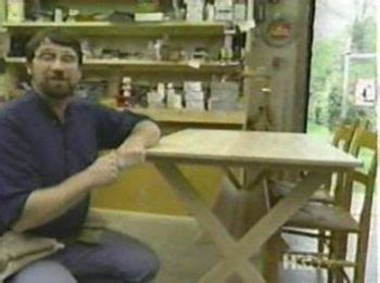 brace trestle table woodworking plan featuring norm