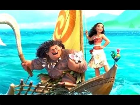 film animation moana moana sneak peek first footage 2016 dwayne johnson