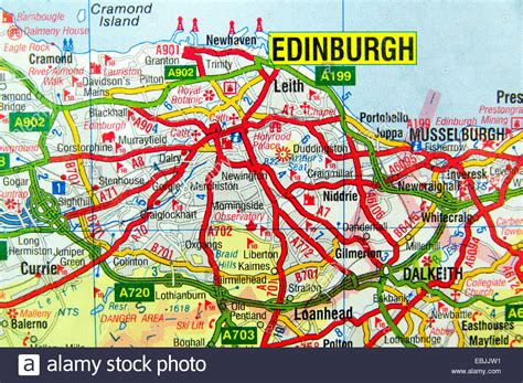 map of edinburgh scotland road map of edinburgh scotland stock photo royalty free