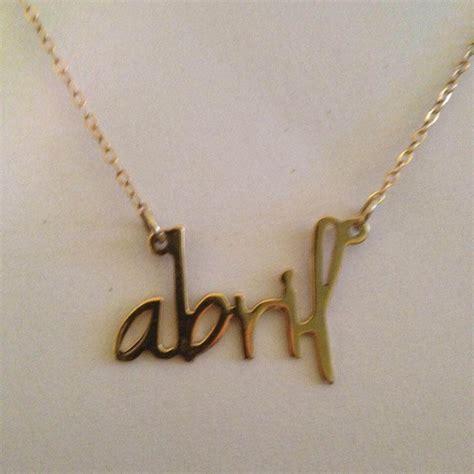 cadenas oro con tu nombre abril tu nombre en dije con cadena chapa de oro 950 00