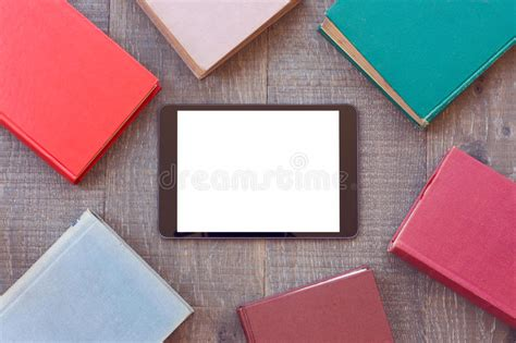 Digital Tablet Mock Up Template With Books For E Book App Presentation Stock Photo Image 57468362 Digital Mock Up Templates