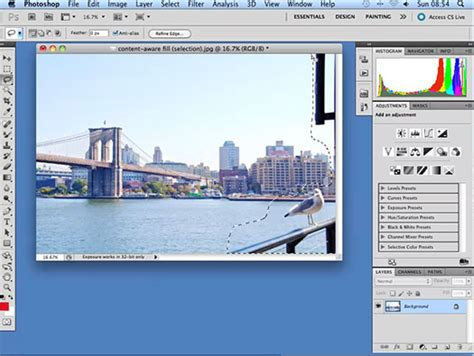 tutorial photoshop cs5 step by step content aware fill in photoshop cs5 photoshop cs5