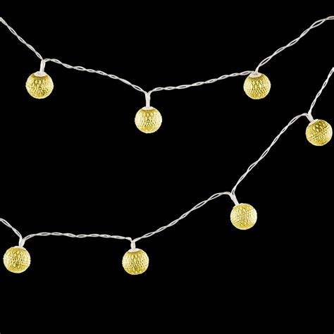 Gold String Lights by Gold Moroccan Globe String Lights The Container Store