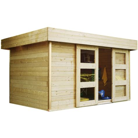 cabane de jardin en bois leroy merlin abri de jardin bois stockholm 8 38 m 178 ep 28 mm leroy merlin