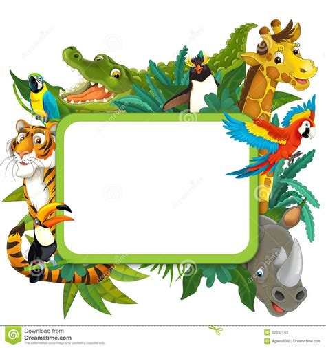 safari clipart frame border jungle safari theme