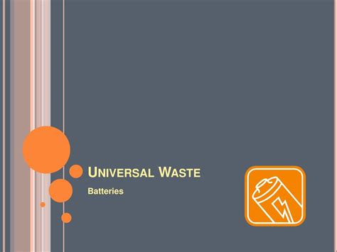 ppt universal waste powerpoint presentation id 561896