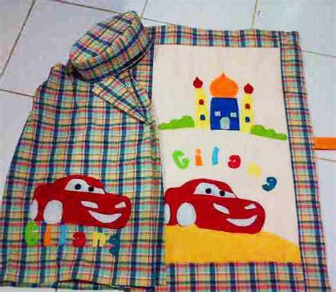 Peci Busa Motif detail produk sarung anak set toko bunda