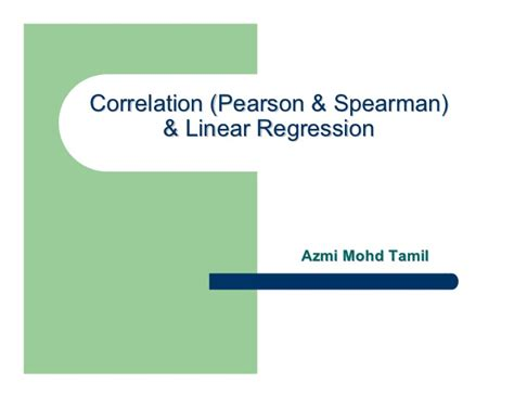 spss tutorial in tamil pearson correlation spearman correlation linear regression