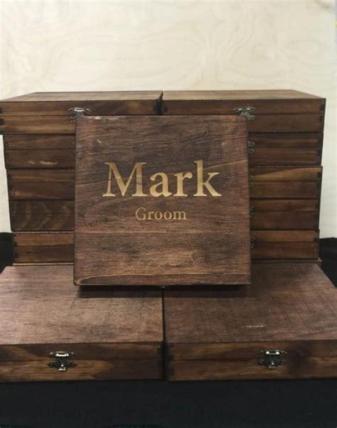 Custom Cigar Box, Groomsmen Best Man Personalized Gift