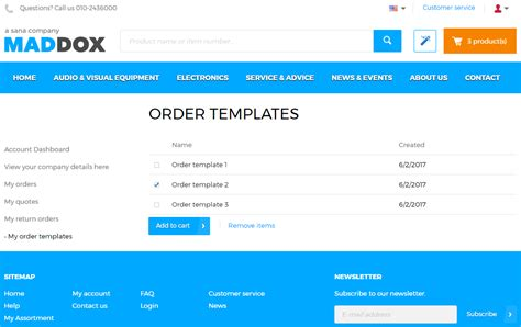 Order Templates E Commerce Faq Template