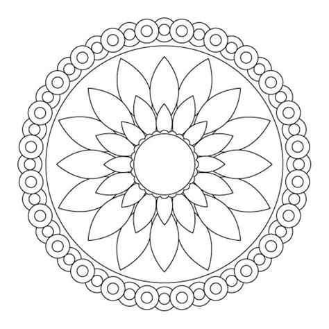 mandala coloring pages of flowers simple mandala coloring pages and print for free