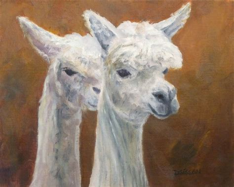 painting of zoo animals daily painting projects alpaca pair painting animal