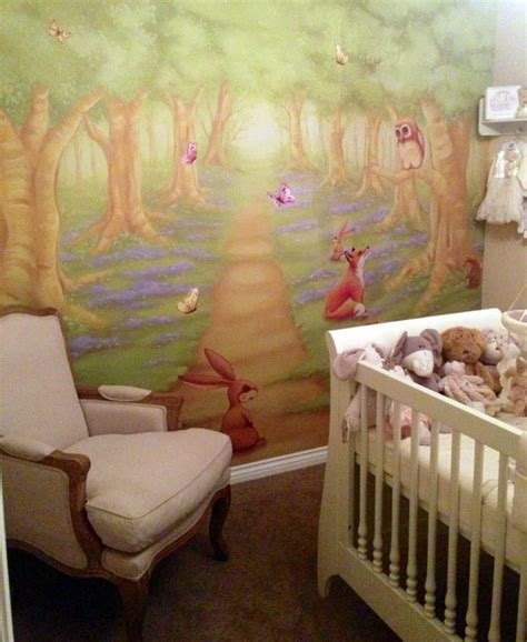 nursery wall mural woodland nursery wall mural modern nursery by wallpapered