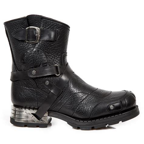 rock boots m mr004 s1 custom new rock black leather motor rock